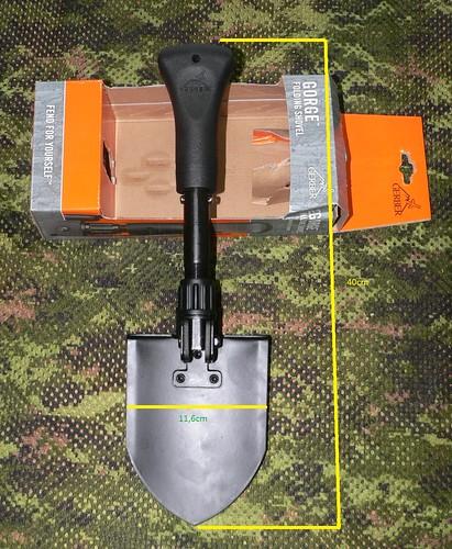 Gerber Gorge Folding Shovel - Gerber Pala Plegable Extendida 1 - Medidas 1