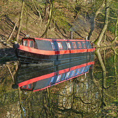 Barge in the Rochdale Canal by Tim Green aka atoach