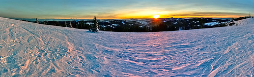 A sunset over Feldberg