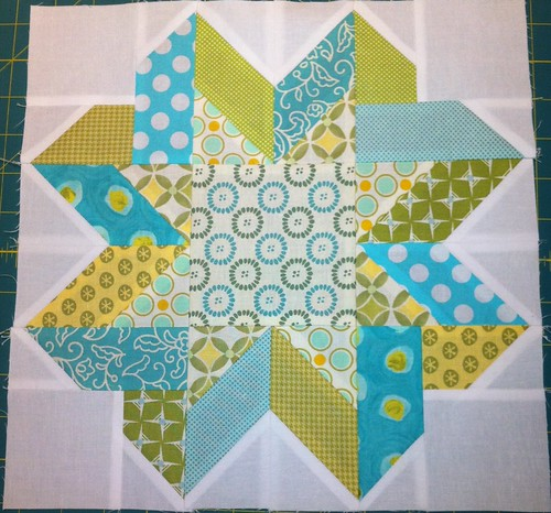 Ribbon Star block
