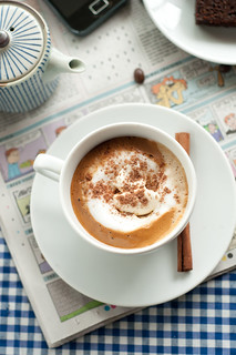 Coffee with Cream and Cocoa powder