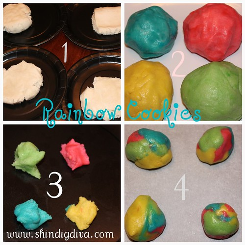 Rainbow Cookie Steps