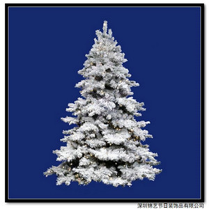tips for decorating a white flocked christmas tree - Decorated Flocked Christmas Trees