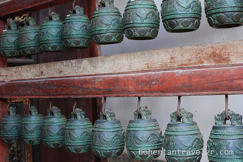 bells at Confucian Temple in Jianshui China