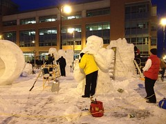 Snow Saxaphone