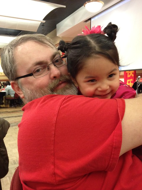 Daddy and Hannah - CNY 2012