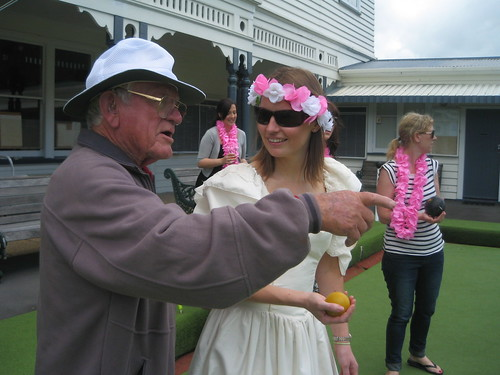 GramBob teaching the Bride-to-be