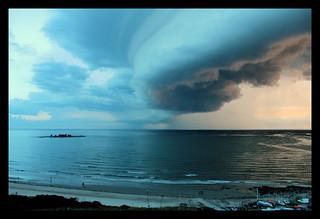 Image of Playa Malvín. clouds sunsets playa tormenta montevideo sunrises storms malvín
