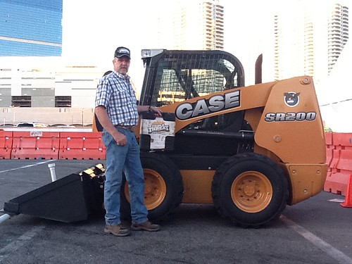 January 25, 2012 - Skid Steer Loader winner - Gary Nex from Mt. View, WY