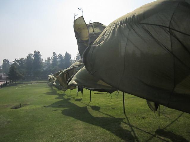 bunting for Reublic Day at Raj Ghat, Delhi