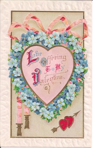 Love Offering To My Valentine-Vintage Valentine Postcard 1911