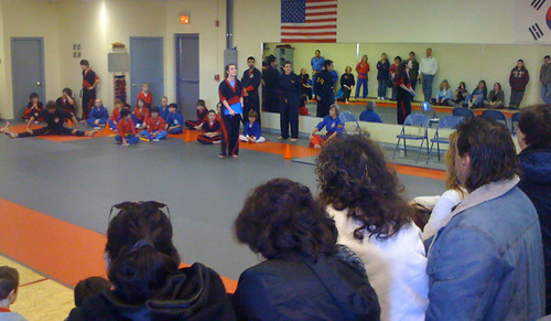 Anti-bullying benefit tournament at Ernie's Karate