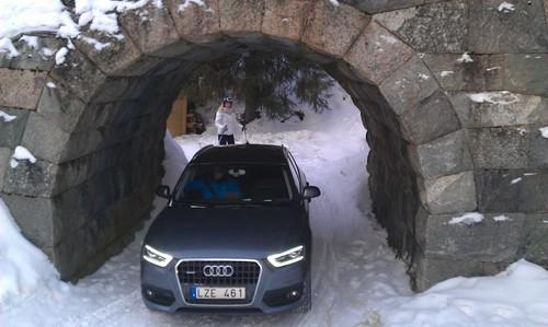 Audi Q3 under kabinbanan