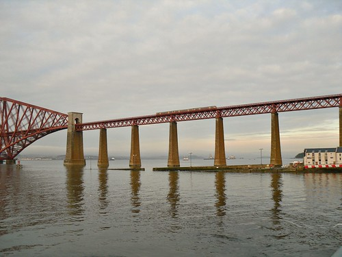 Train Coming off Forth Bridge Onto Approaches