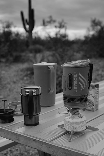 Early Morning Coffee in the Desert