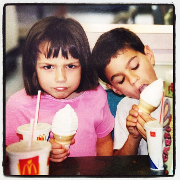 Never met a kid besides Liz who was grumpy at McDonalds. #kids #frown #grumpy #angry #fastfood #sad #instadaily