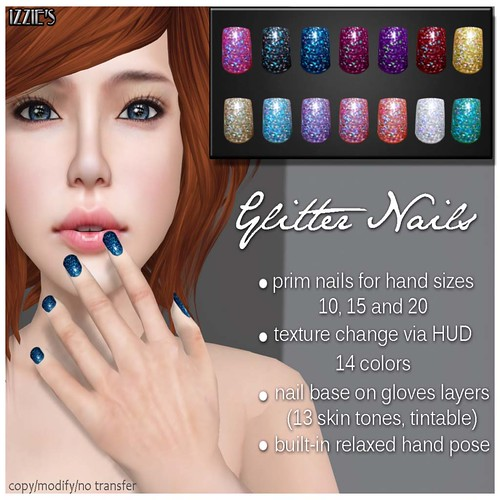 Izzie's - Glitter Nails (ZombiePocorno Hunt) by Cherokeeh Asteria