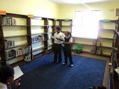 GCU Academy after school tutoring :: The Backpack Cape Town posted a photo: 	   The GCU Academy offers after school tutoring to its members to assist with homework and reading.  The tutoring takes place in the library at Woodlands Primary school in Heideveld.   Pictures taken Feb 2012