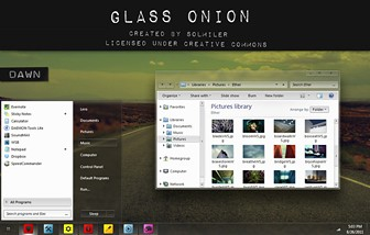 glass onion windows 7 theme