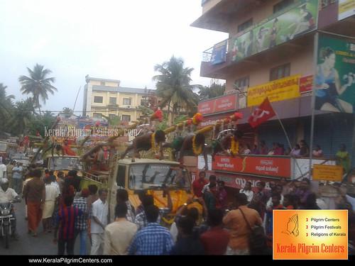 Thookkam nercha of Sreekaryam Shri Bhadrakali Devi temple 2012