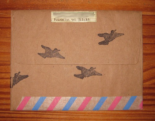 Birds of a feather envelope back
