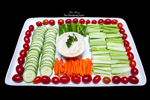 Vegetable crudité platter
