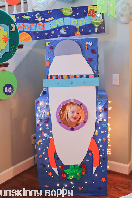 Rocket Ship birthday photo booth