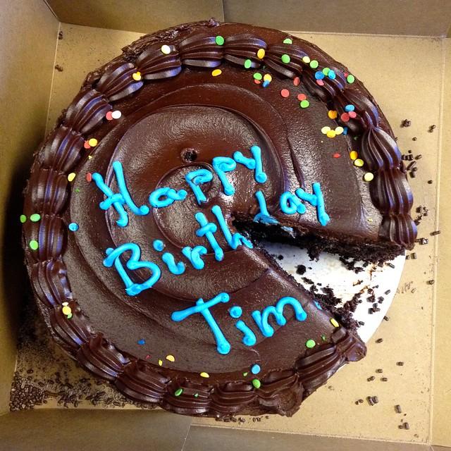 happy birthday tim cake