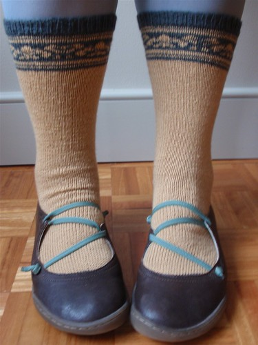 Fair Isle and shoes