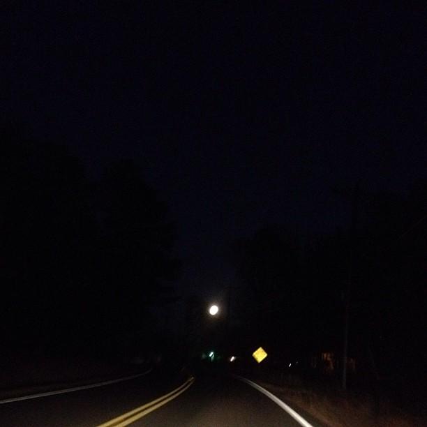 The very full moon at dusk last night.