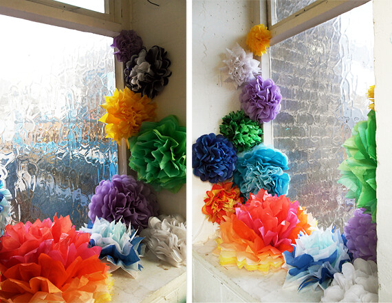2nd Project - A window of paper flowers