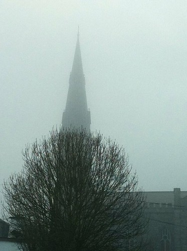 ireland mist church misty fog clare catholic cathedral 4 foggy ennis munster 4s iphone