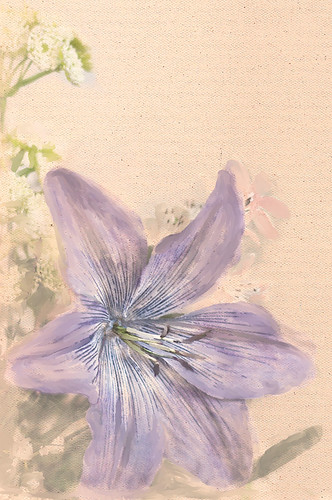 Image of a painted Purple Flower
