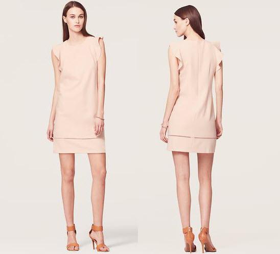 loft flutter dress