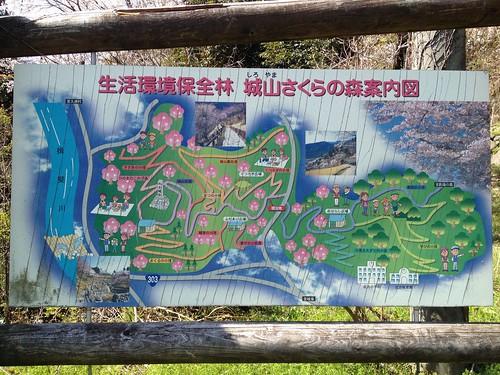 城山さくらの森案内図