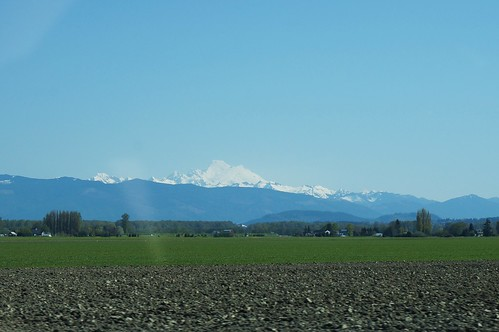 Mt Baker from the car