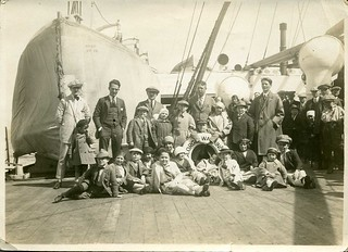 SS George Washington. The Kasemann and the Klinkharts Midget troupes immagrating to the USA 1923