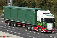Scania R440 6x2 Tractor with 3 Axle Curtainside Trailer - PN12 WKZ - Joanna - Eddie Stobart - M1 J10 Luton - Steven Gray - IMG_4059