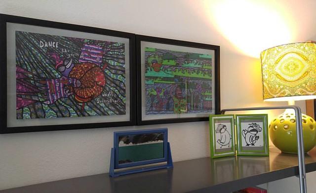 Artwork by Aengus Cargo helps make a home pretty.