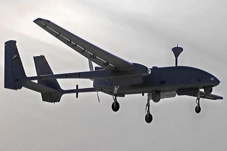 An Israeli long-range Heron drone which is being used in the Horn of Africa nation of Somalia. 17 people were killed in Israeli air attacks on November 24, 2011. by Pan-African News Wire File Photos