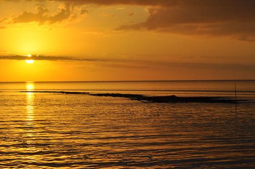 sunset water gulf