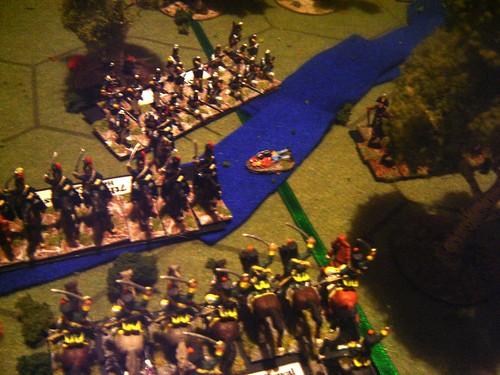 Portuguese Hussars driven back