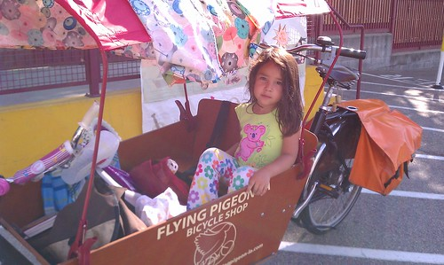 Riding with the girl to the Old LA Farmer's Market in Highland Park