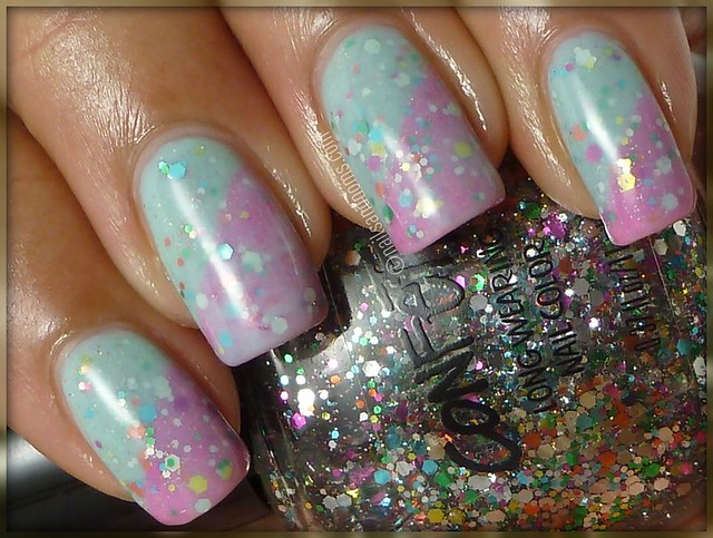 Glitter Sandwich: Cotton Candy