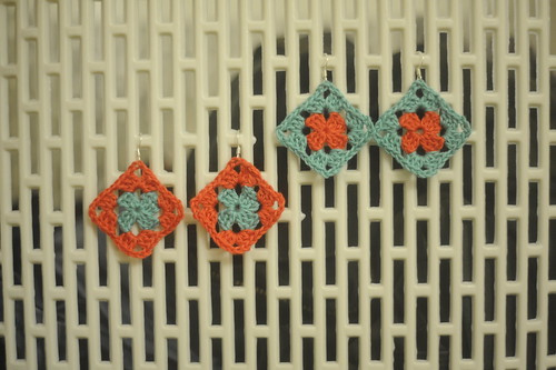 Granny square earrings