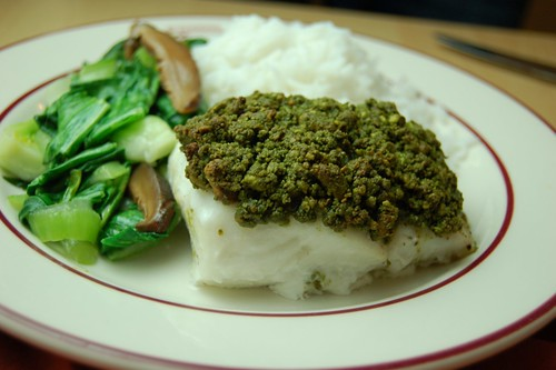 Matcha & Pistachio Crusted Cod