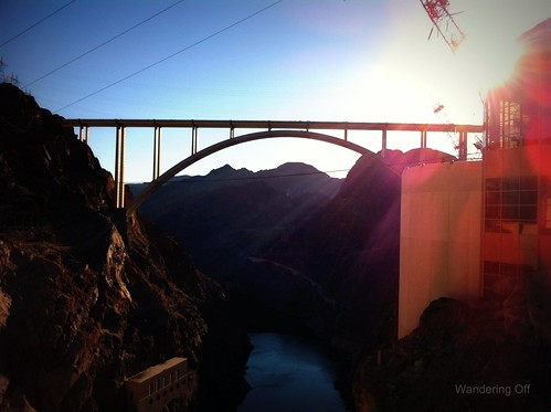 View of Memorial Bridge from Hoover Dam.