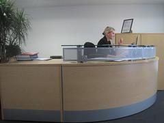 furniture, receptionist, office, desk,