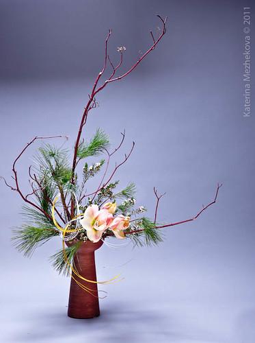 New Year Ikebana arrangement from my workshop