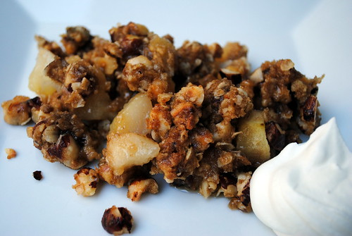 Apple and Pear Crumble with Cheese